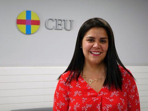 María Alejandra Maldonado durante su visita al CEU